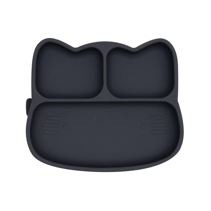 Cat Stickie Plate | Charcoal