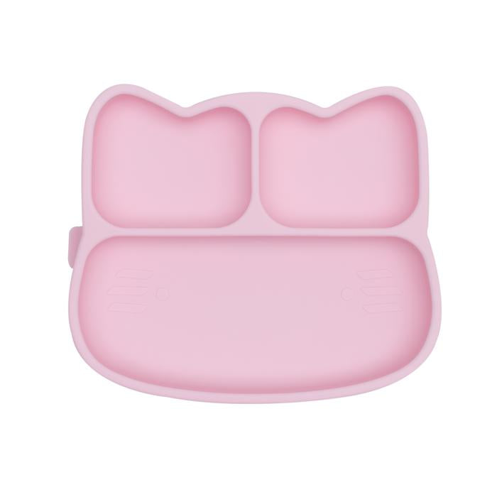 Cat Stickie Plate | Powder Pink