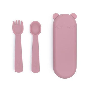 Feedie Fork & Spoon Set | Dusty Rose