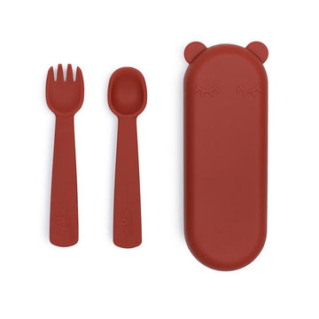 Feedie Fork & Spoon Set | Rust
