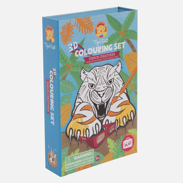 3D Colouring Set | Fierce Creatures