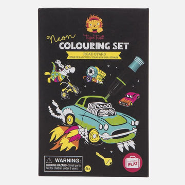 Neon Colouring Set | Road Stars