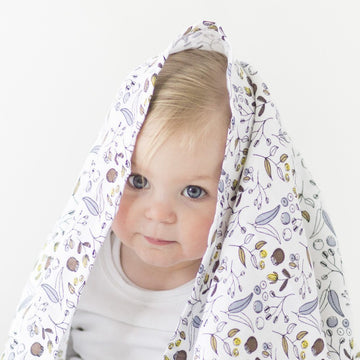 Organic Cotton Large Muslin Wrap | Botanical