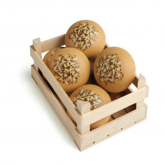 Wooden Seed Bread Roll