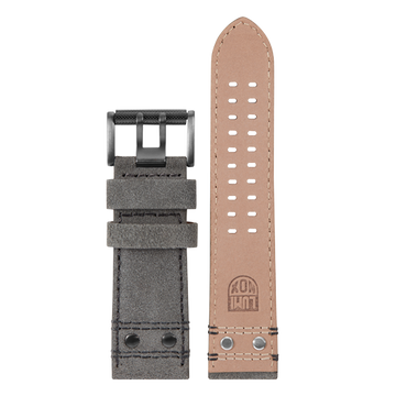 Luminox Genuine leather Watch Band - Grey 26 mm Strap | Luminox  Australia