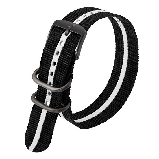 Luminox Webbing NATO style Watch Band - Black / White 23 mmfrom Luminox Australia