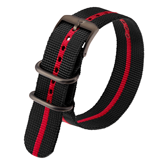 Luminox Webbing NATO style Watch Band - Black / Red 23 mm Strap | Luminox  Australia