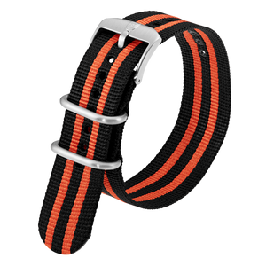 Luminox Webbing NATO style Watch Band - Black / Orange 23 mmfrom Luminox Australia
