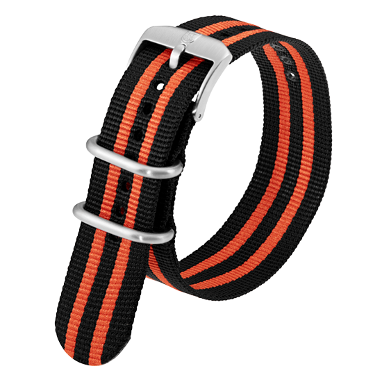 Luminox Webbing NATO style Watch Band - Black / Orange 23 mm Strap | Luminox  Australia