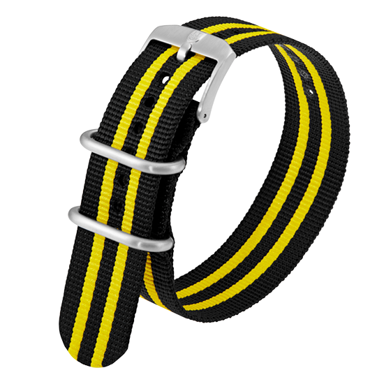 Luminox Webbing NATO style Watch Band - Black / Yellow 23 mm Strap | Luminox  Australia