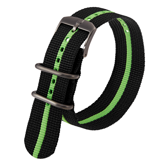 Luminox Webbing NATO style Watch Band - Black / Green 23 mm Strap | Luminox  Australia