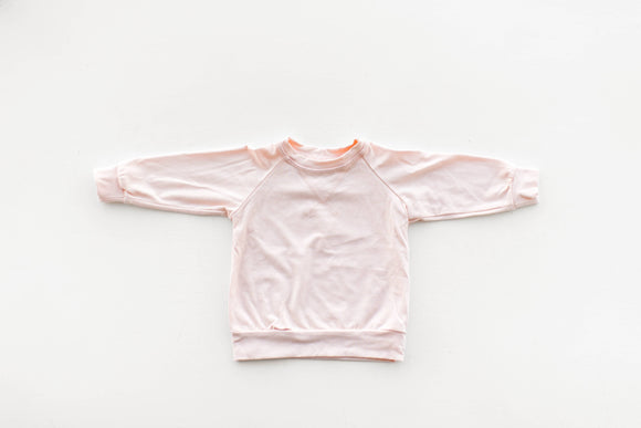 Crew Neck in Pale Blush