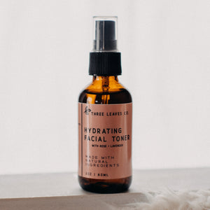 hydrating natural facial toner with rose and lavender hydrosol