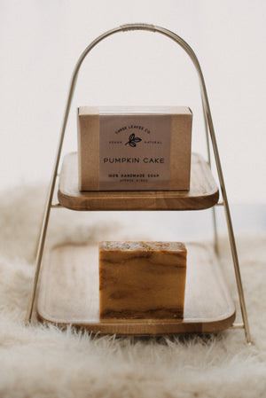 Pumpkin Cake Handmade Vegan Soap Bar