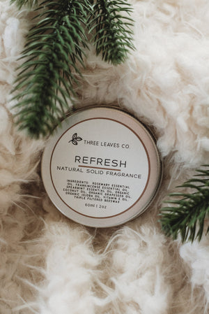 Refresh Natural Solid Fragrance 2oz