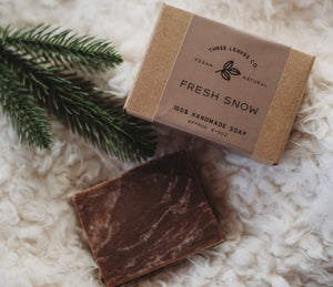 Fresh Snow Vegan Soap Bar