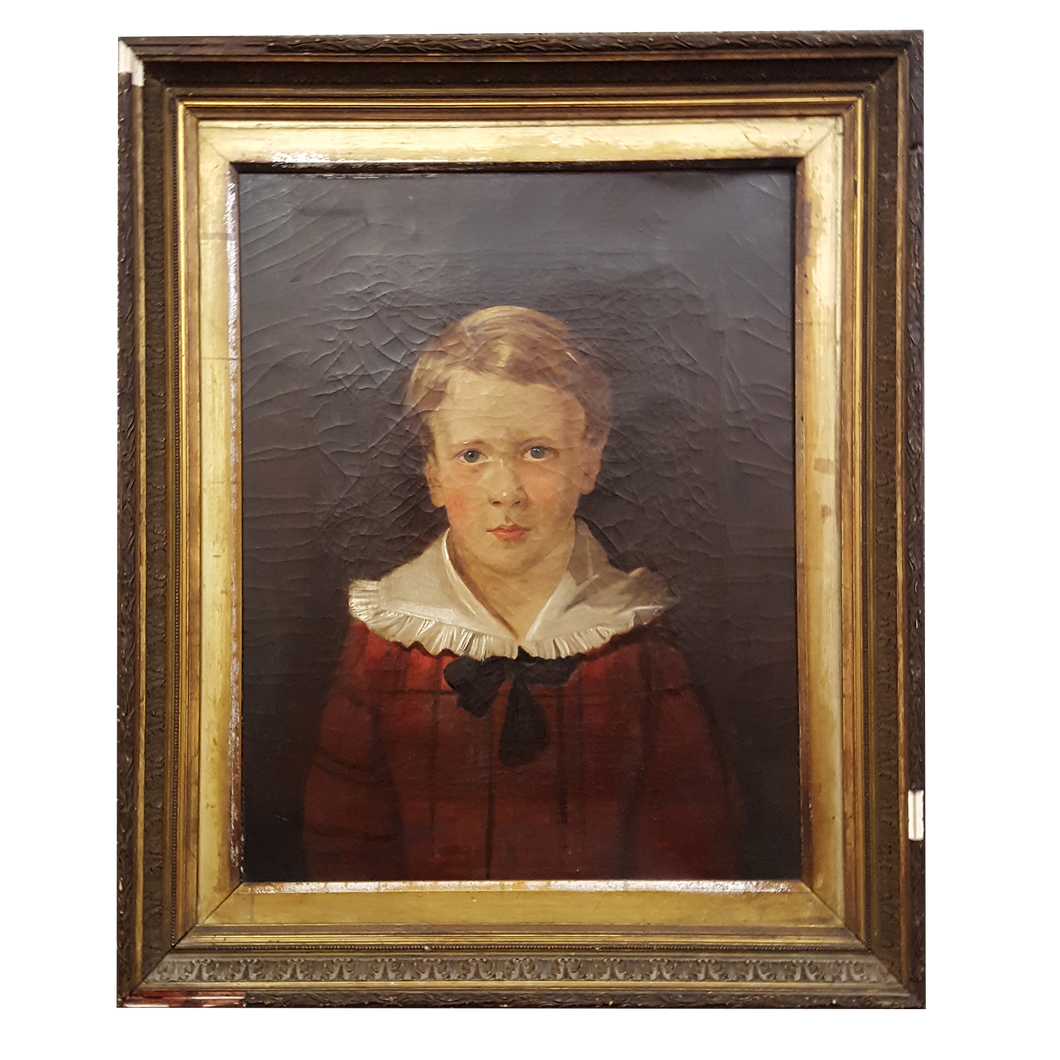 19th C English Portrait Oil Painting