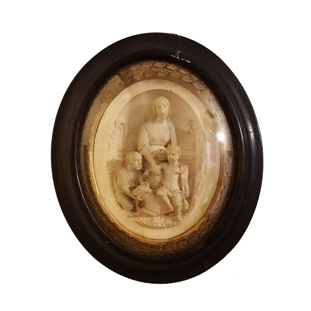 19th c French Meerschaum Plaque
