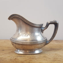 Early 20th Century Hotel Silver Creamer