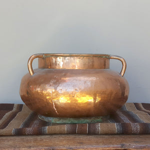 Old Copper Hammered Pot