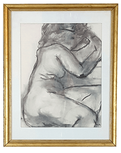 Framed Charcoal Nude