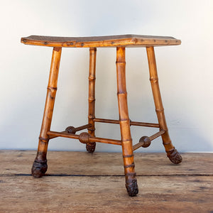 French Bamboo Stool