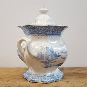 French Blue and White Lidded Sugar