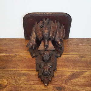 Carved Wood Game Shelf