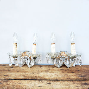 French Glass Sconces