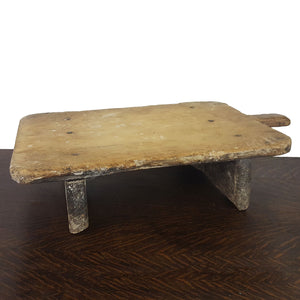 antique pine raised french breadboard server