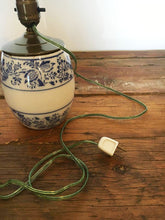 German Porcelain Canister Lamp