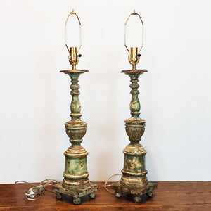 Indian Candlestick Lamps