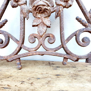 French, Iron Garden Element with Angels