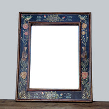 Mirror with Painted Bird Frame