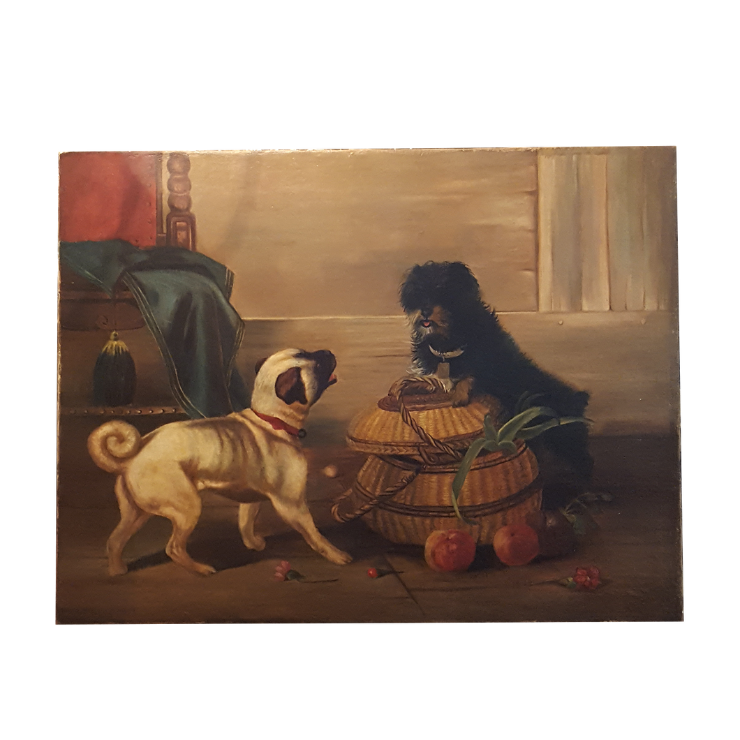 Pug and Terrier Painting