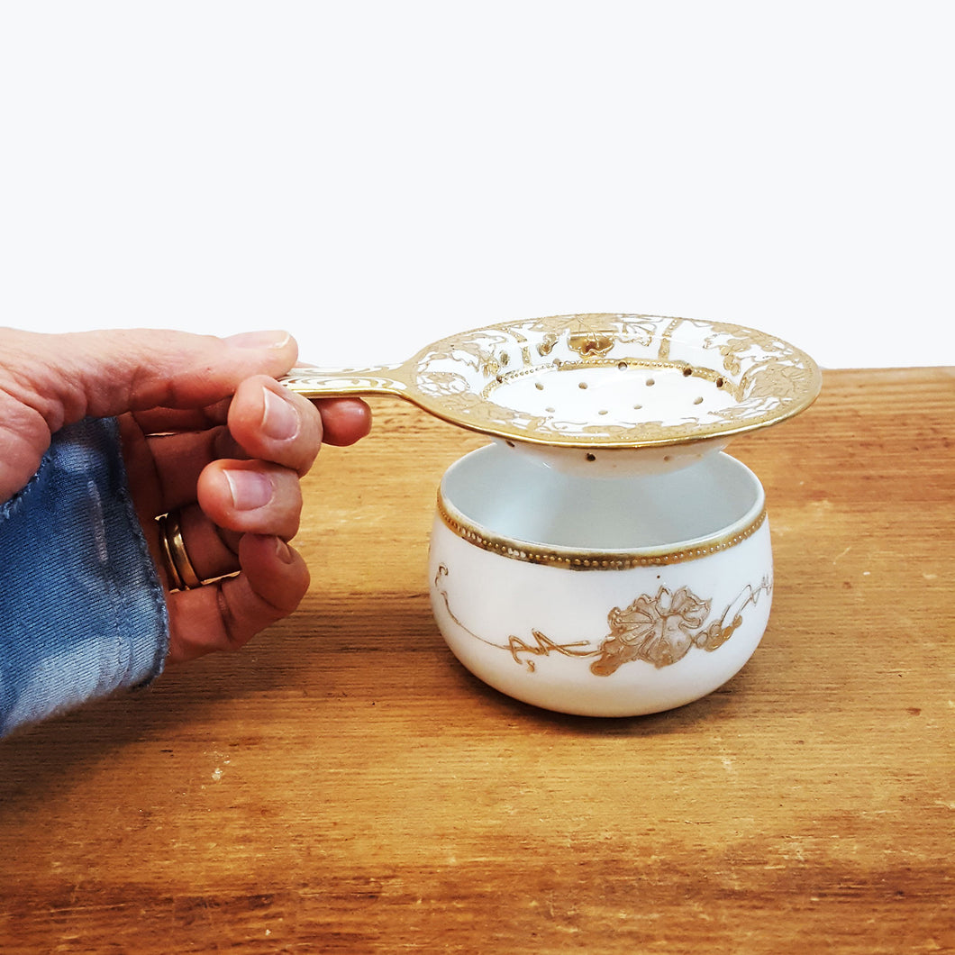 Hand Painted Tea Strainer