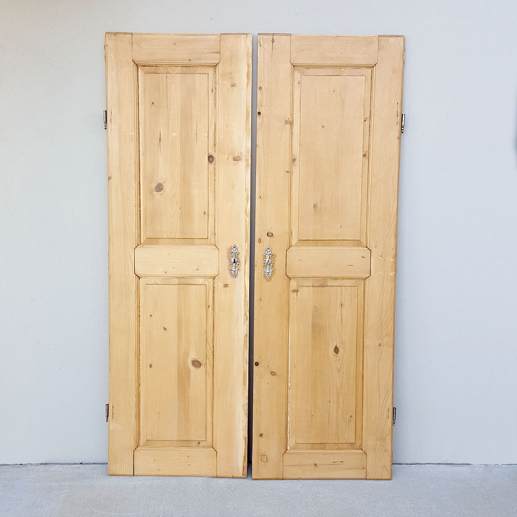 Pair of European Pine Doors