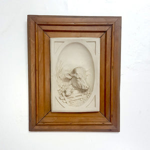 19th c Parian Plaque