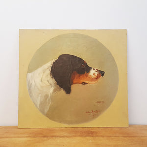 Signed Dog Painting