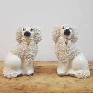 Pair of Tiny Staffordshire Spaniels