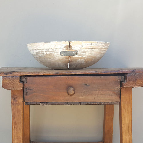 White Wood Bowl