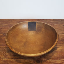 Wood Bowl with Metal Patch