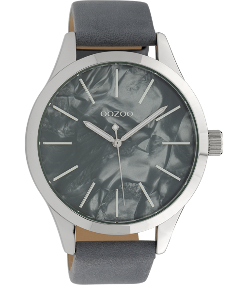 Montre cuir Blue Grey  C10074  -  Oozoo