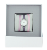 Montre Silver Coffret ruban Rose  - Les interchangeables