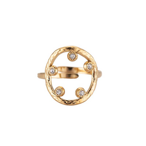 "Bague "" Cercle Zircon "" Gold  -  Dottilove"