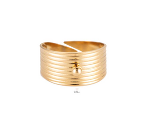 Bague large Gold ou Silver Plaqué or ou or blanc 14K  -  Dottilove