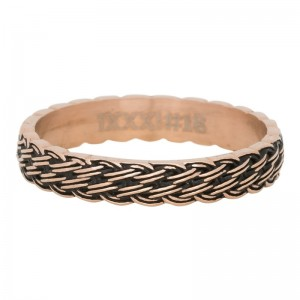 "Bague anneau recouvrant "" Lucky Knot "" Rose Gold  - Ixxxi"
