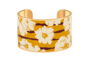 "Manchette "" Swann "" Safran  - Bangle-up"