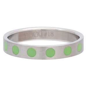 "Bague anneau recouvrant "" Round "" Green - Ixxxi"
