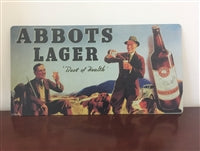 Abbots Lager Vintage Tin Sign